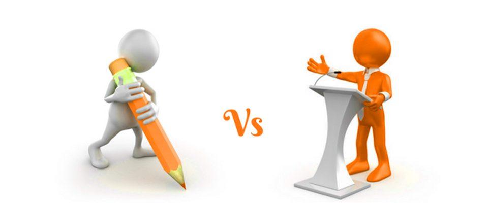 تفاوتهای میان زبان نوشتار و زبان گفتار
