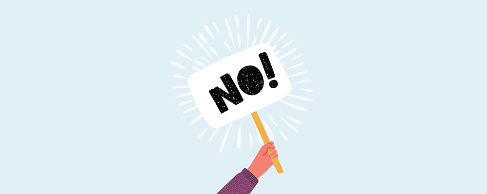 روشهای مختلف «نه» گفتن مؤدبانه به زبان انگلیسی